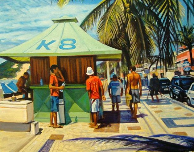 Kiosk on the Beach, Natal, Brazil (16x20 inches)