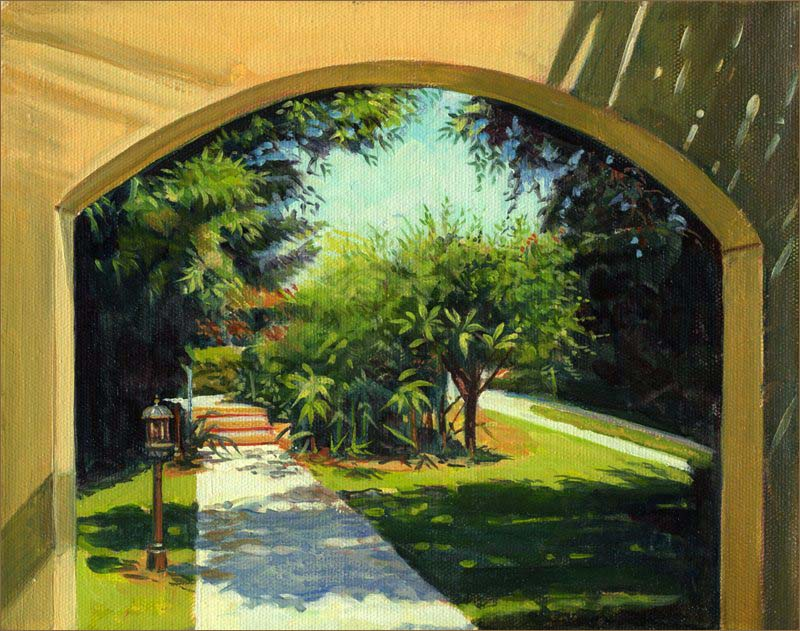 Front Yard of House, Caesarea (8x10 inches)