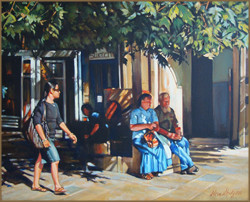In the Shade, Jerusalem (40.6 X 50.8 cm)