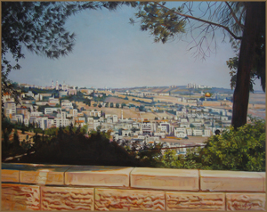 Jerusalem from the Hass Promenade (61.0x76.2 cm)