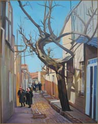 Winter in Jerusalem with Bare Tree (61.0x76.2 cm)
