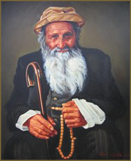 Old Man with Worry Beads (50.8x61.0 cm)