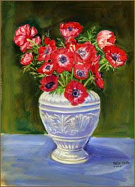 Red Anemones (8x11 inches)