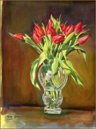 Red Tulips (8x11 inches)